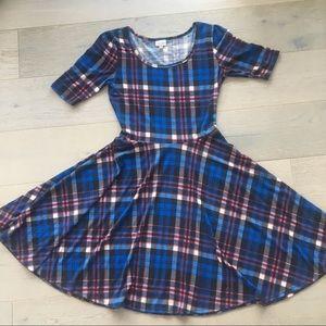 Plaid Lularoe Nicole Dress